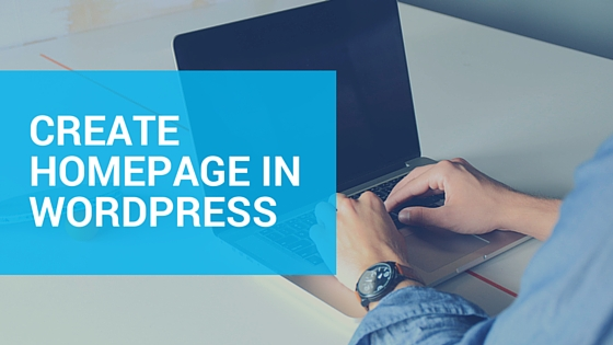 create-homepage-wordpress