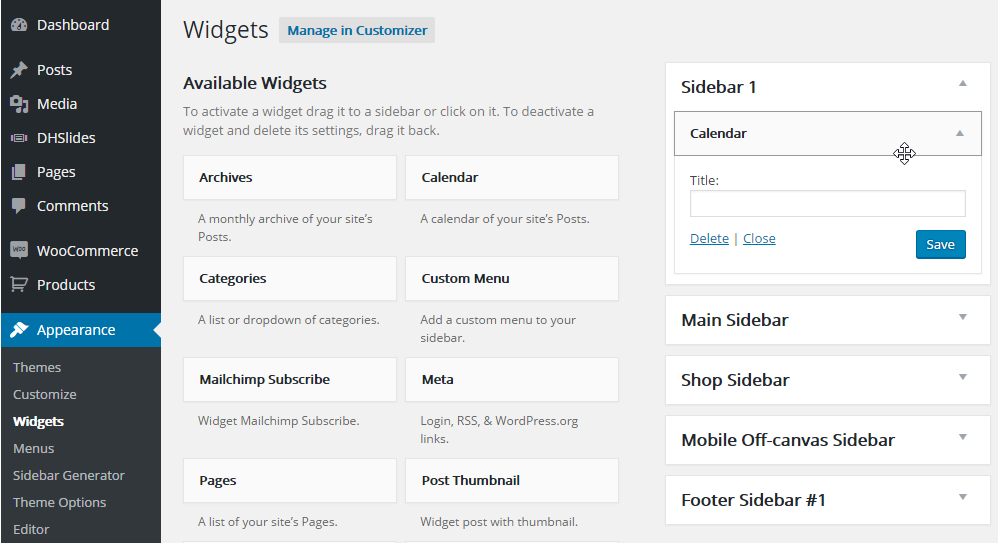 add-widget-to-sidebar