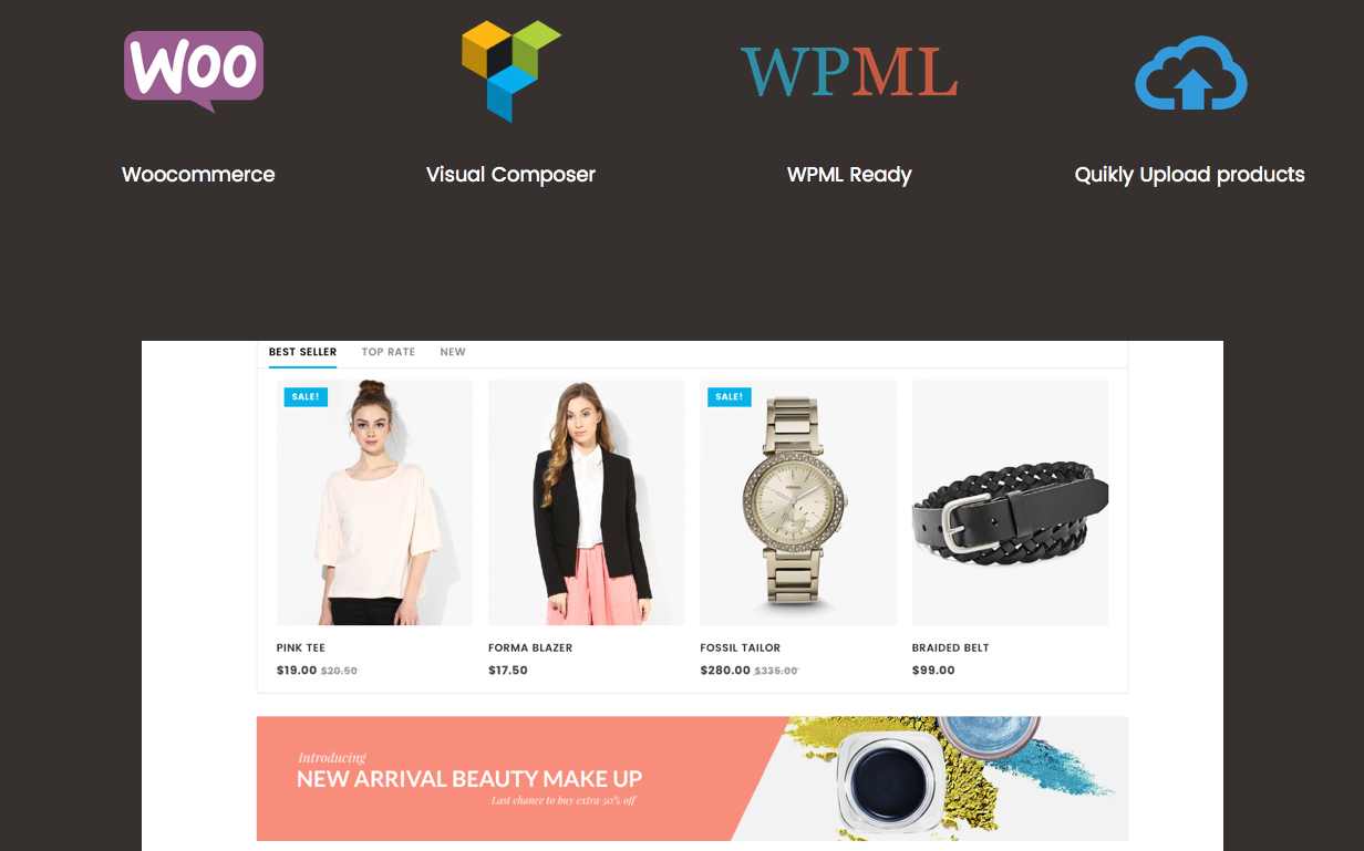 Ready for All Kind of eCommerce Websites