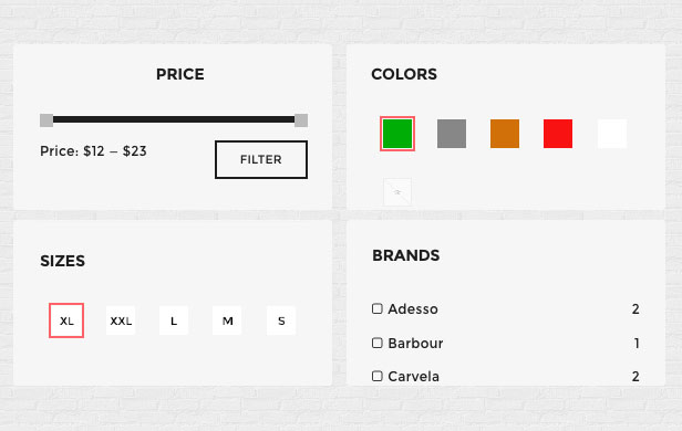 Product Filter Widget For WooCommerce Variations Swatches and Photos