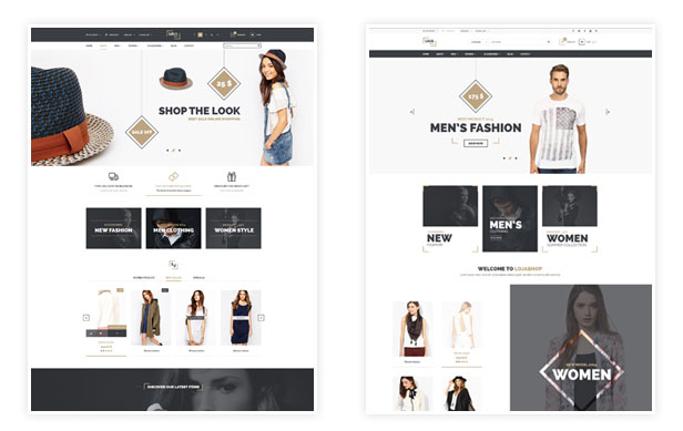 3 Home and Lookbook Layouts
