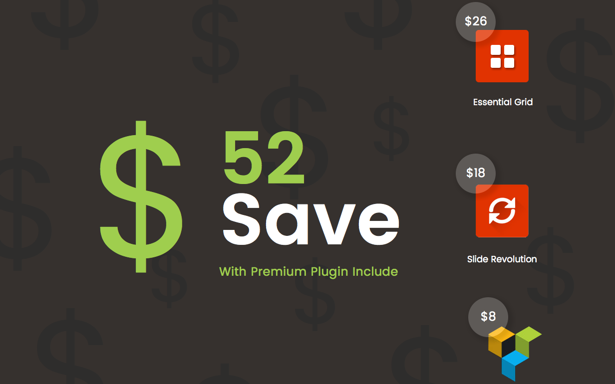 Packed with Premium Plugins (Save $52!)